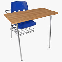 students desk 3d model