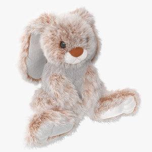 3d model stuffed rabbit toy
