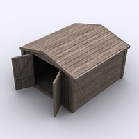 wood cabin 3d 3ds