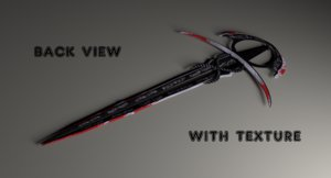 fantasy sword 3d obj