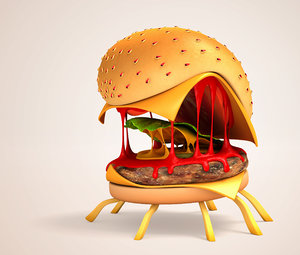 cheese spider monster 3d max