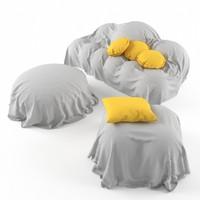 free cloth sofa 3d model