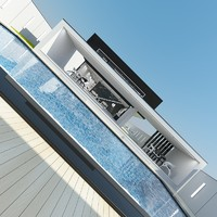 modern house interior 3d max