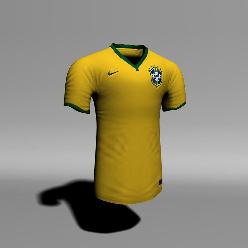 max brazil soccer home jersey