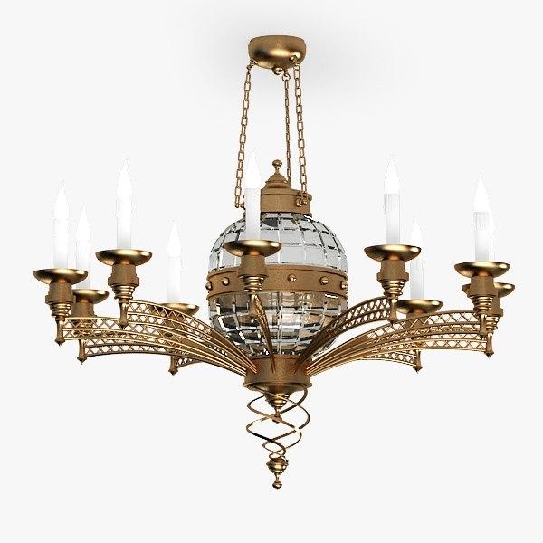 chandelier 3d model