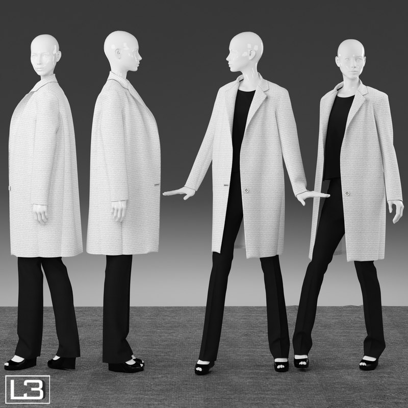 woman mannequin clothes 3d model