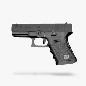 project handgun glock 17 3d model