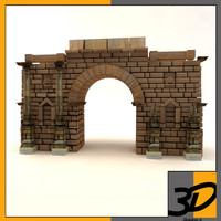 roman gate 3d max