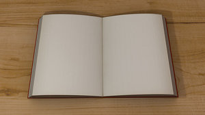 free open book 3d model