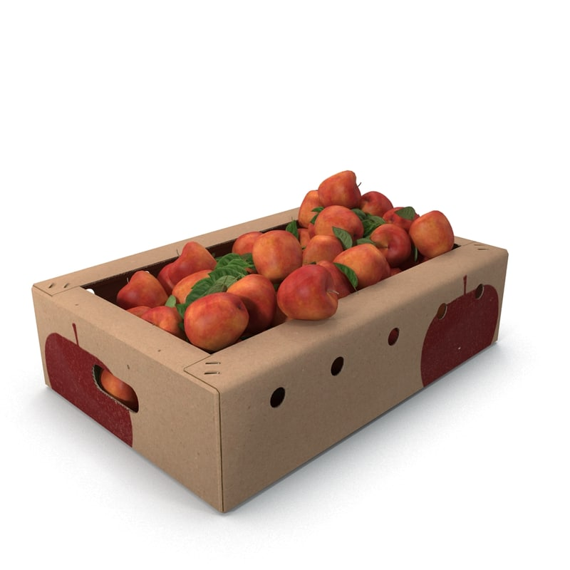 3d box apples