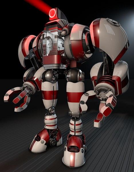 free robot cockpit 3d model