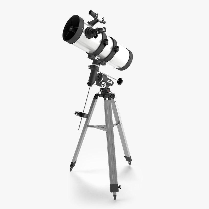 newton telescope 3d model