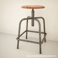 3d vintage industrial stool model