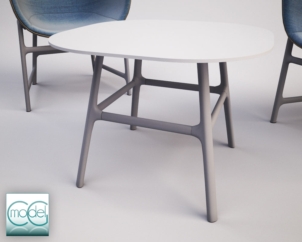 c4d table chair