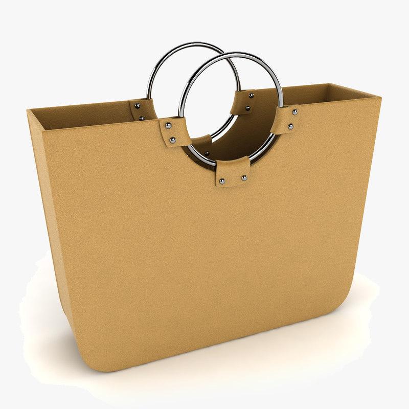 3d woman bag handbag
