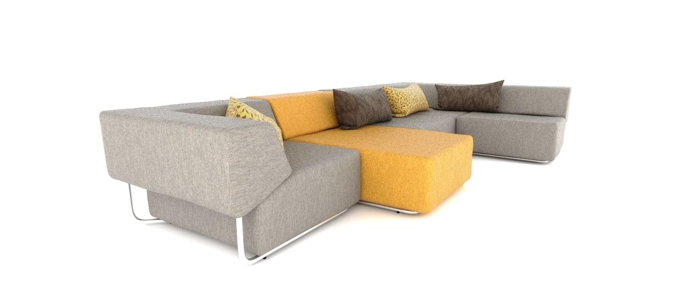 3d modern sofa noa model