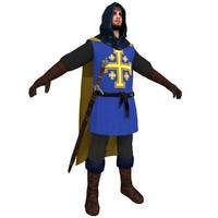 medieval crusader 3d model