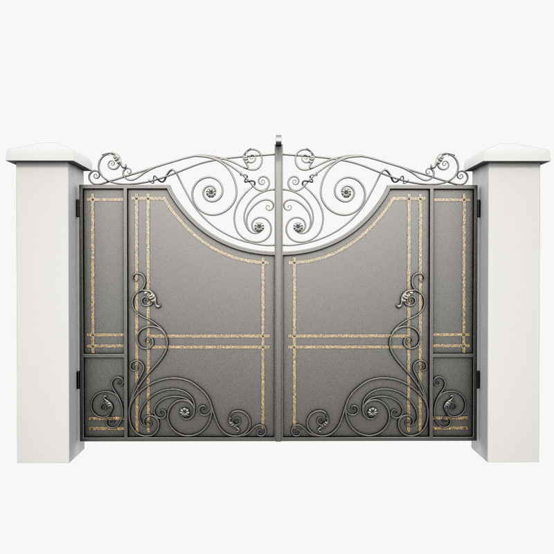 3d wrought iron gate