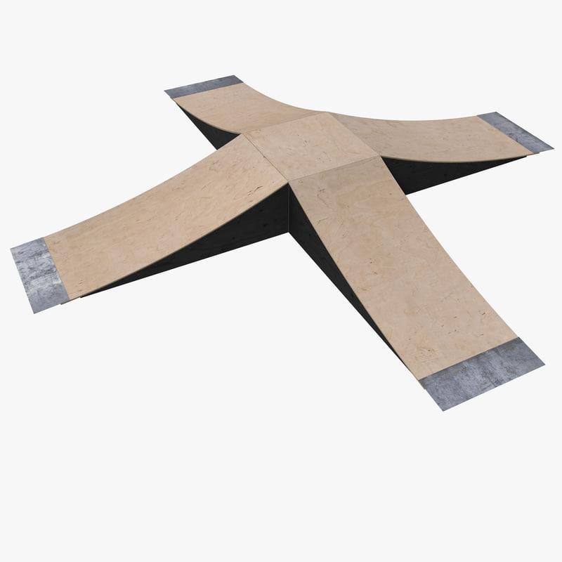4 sided skate ramp 3ds