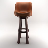 3d bar chair stool