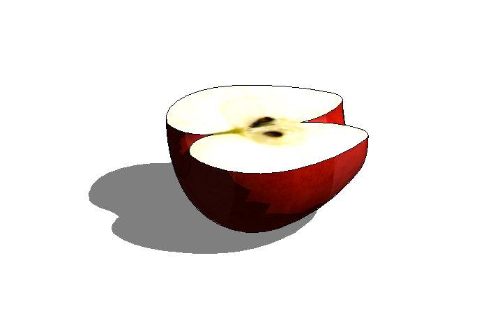 3d model apple cut