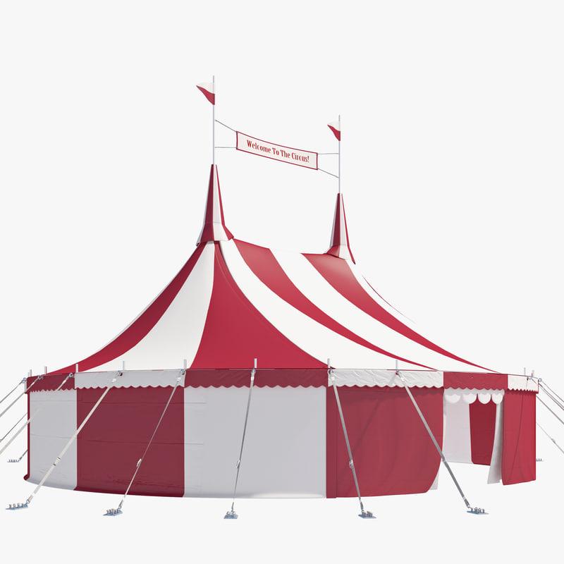 circus tent 3d model & tent 3d model