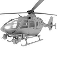 police ec-135 3d model