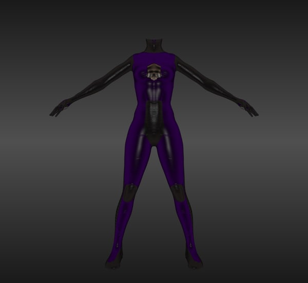maya female nano suit