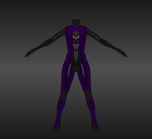 maya female nano suit