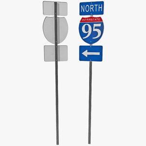 3d model highway signage 9