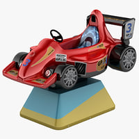 3d model kids coin operated car
