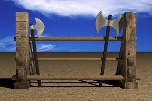 3dsmax medieval weapon rack