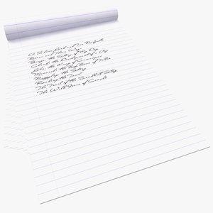notebook note book 3d max