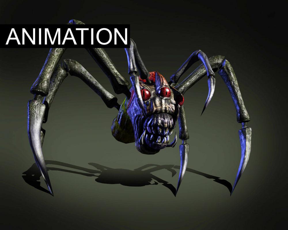 3d model monstr spider