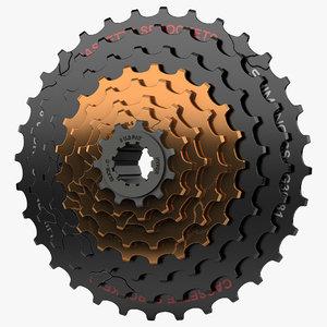 3d model speed mountain bike cassettes
