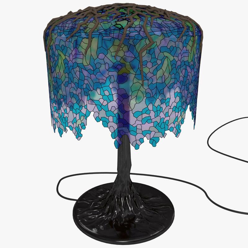 3d model tiffany desk lamp