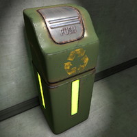 trash rubbish bin 3d model