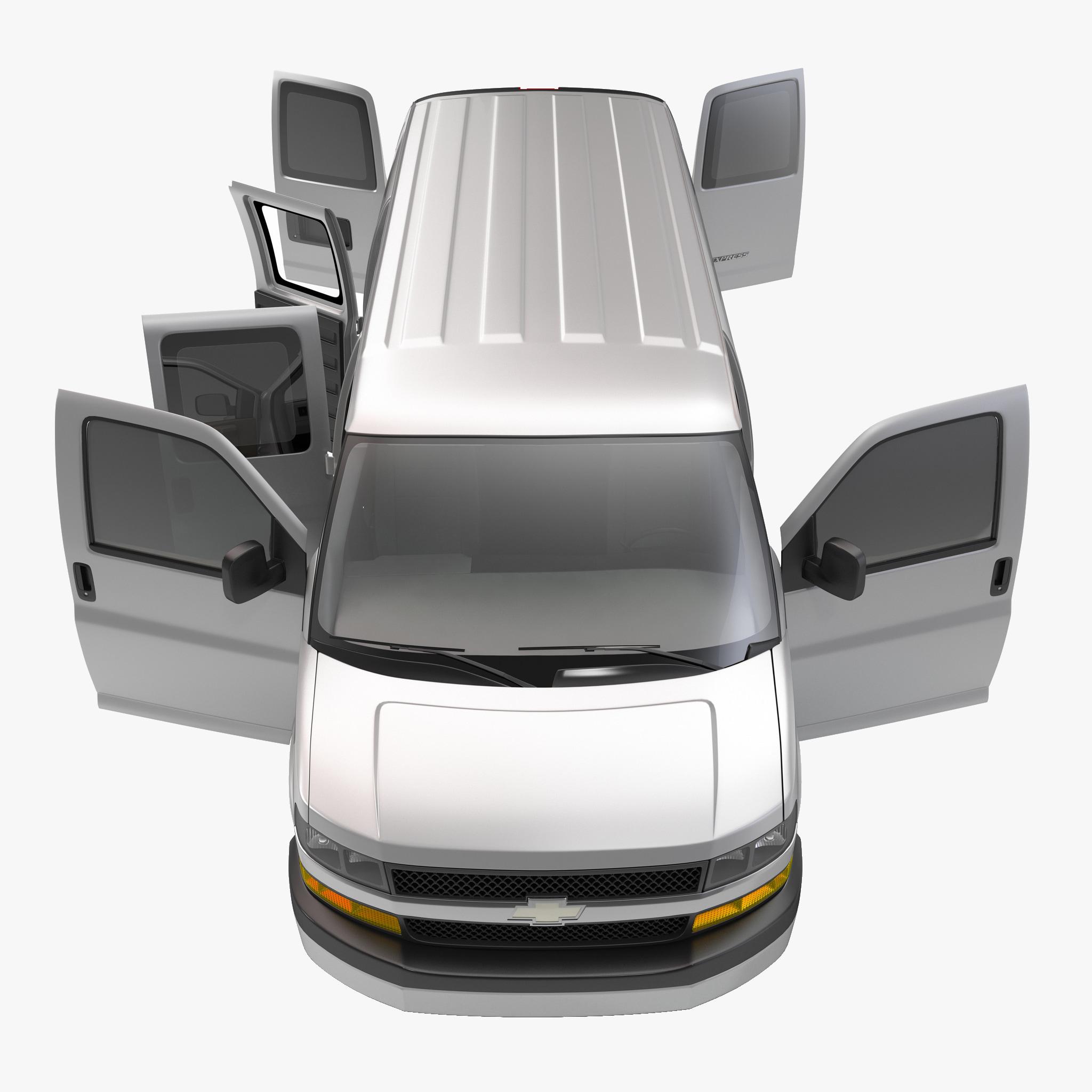 van chevrolet express 2014 3d model