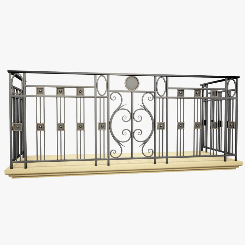 Max wrought iron balcony for Metal balcony