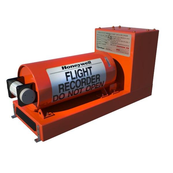 honeywell flight recorder 3d model