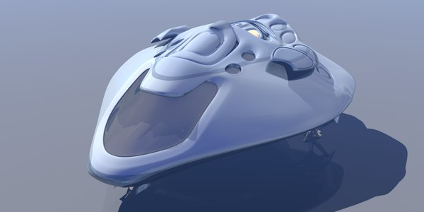 3d space scifi vehicle model