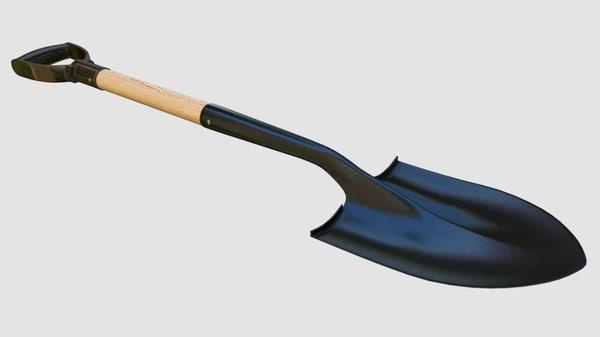 3d spade shovel