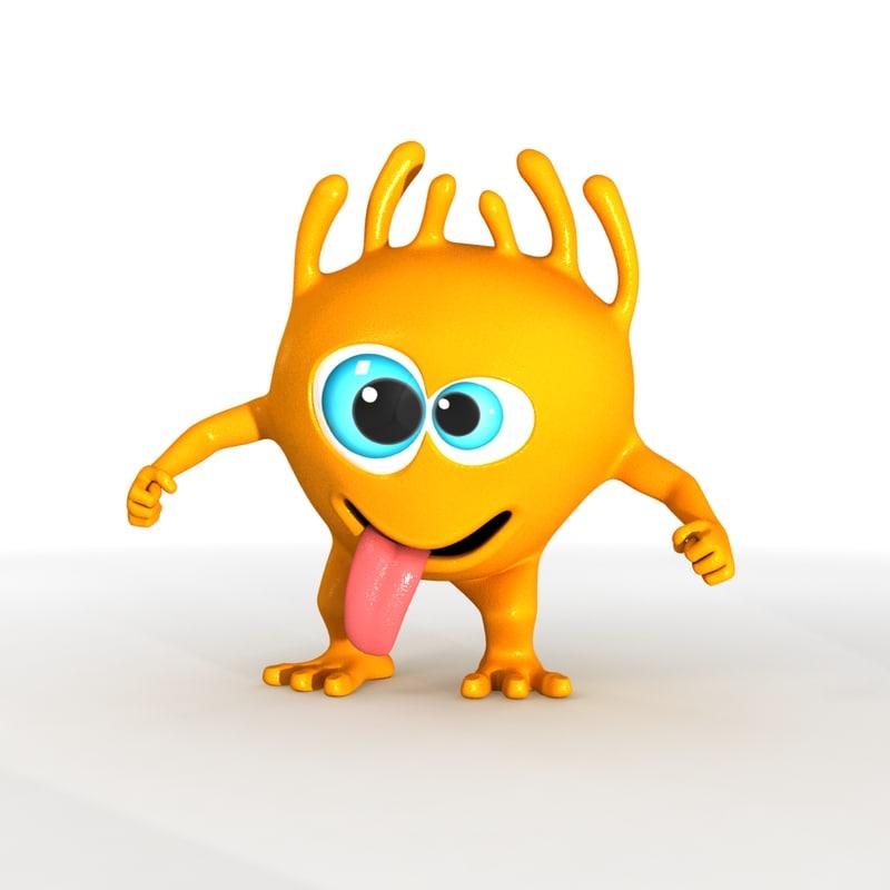 9aa40baa4 funny toon character 3d model