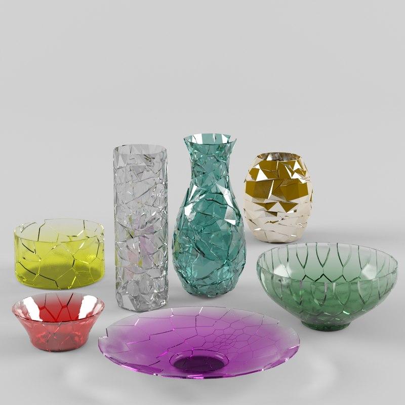 Broken Glass Vase: Max Broken Vases