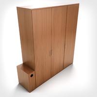 3d model hd wardrobe