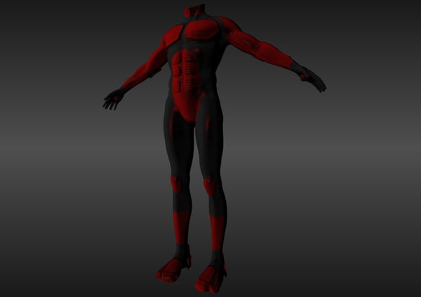 male nano suit obj