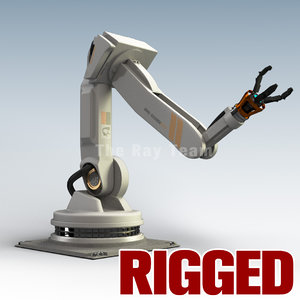 maya industrial robotic arm rigged