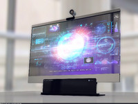 3d glass monitor model