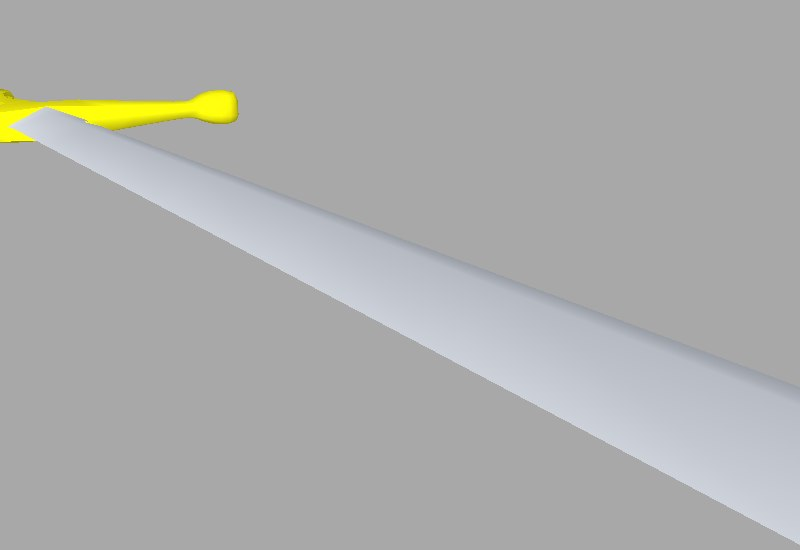 3d model of long sword