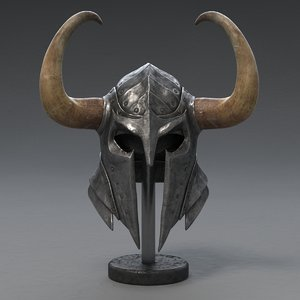 3d model of medieval knight helmet